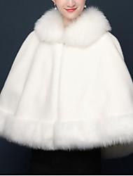 abordables -Sans Manches Laine / Fausse Fourrure Mariage / Fête / Soirée Etoles de Femme / Foulards pour Femme Avec Fourrure Châles / Capes