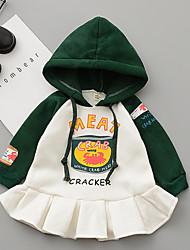 abordables -bébé Fille Basique Imprimé Manches Longues Robe Vert