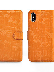 cheap -Case For Apple iPhone XS / iPhone XR / iPhone XS Max Card Holder / Magnetic / Auto Sleep / Wake Up Full Body Cases Solid Colored PU Leather