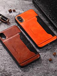 ieftine -Maska Pentru Apple iPhone 11 / iPhone 11 Pro / iPhone 11 Pro Max Titluar Card Capac Spate Mată PU piele