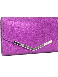 cheap -Women's Polyester Clutch Solid Color Black / White / Purple