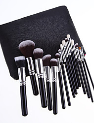 cheap -Professional Makeup Brushes 15pcs Soft Lovely Comfy Goat Hair Brush Aluminium Alloy 7005 / Wooden / Bamboo for Concealer & Base Powders Foundation Blush Brush Makeup Brush Lip Brush Eyeshadow Brush