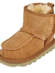halpa -Tyttöjen Comfort / Talvisaappaat Mokkanahka Bootsit Pikkulapset (4-7 vuotta) Musta / Kameli / Burgundi Talvi / Nilkkurit