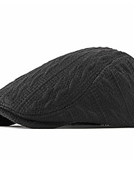 cheap -Women's Basic Polyester Beret Hat-Solid Colored Fall Black Red Navy Blue