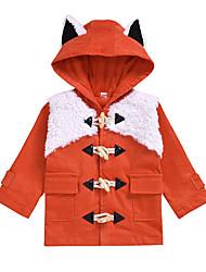abordables -bébé Fille Basique / Chinoiserie Mosaïque Longue Rembourré Coton Orange