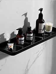 cheap -Simple Bathroom Shelf Creative Contemporary Aluminum Single Wall Mounted
