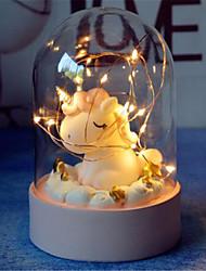 Недорогие -творческий мультфильм единорог привел светой ночь новизны поделки спальни батарея декоративных огни лампа для Младенческого Xmas нового года подарка