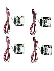 Недорогие -4 шт. 3d-принтер частей концевые механические концевые выключатели с кабелем концевые выключатели нажимного модуля