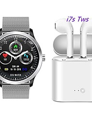 cheap -N58 Smartwatch Stainless Steel BT Fitness Tracker Support ECG PPG HRV/ Report Heart Rate Blood Pressure with Free Wireless TWS Headphone
