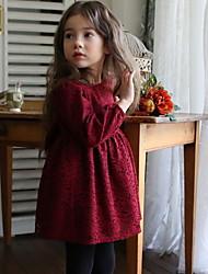 billige -Barn Jente Ensfarget Kjole Rød