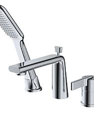cheap -Shower Faucet - Contemporary Wall Mounted Ceramic Valve Bath Shower Mixer Taps
