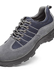 cheap -Men's Comfort Shoes Cowhide Winter Sneakers Gray