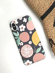 Недорогие -чехол для apple iphone 6 / 6p / 7/8 / 7p / 8p / x / xr / xsmax пылезащитный / ультратонкий задняя крышка цветок акрил / шт