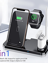 cheap -4 in 1 Wireless Charging Dock Station 10W Fast Wireless Charger Stand