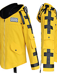 cheap -Inspired by PlayerUnknown's Battlegrounds Warrior Video Game Cosplay Costumes Cosplay Hoodies Solid Color Long Sleeve Coat Costumes