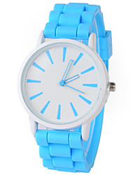 cheap -Women's Quartz Watches New Arrival Minimalist Black Blue Red Silicone Chinese Quartz Black White Sky Blue Chronograph Cute New Design 1 pc Analog One Year Battery Life