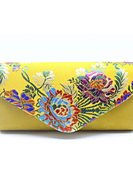 cheap -Women's Embroidery Velvet Evening Bag Floral Print Black / Gold / Silver
