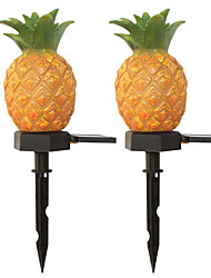 cheap -2pc 3 W Pineapple Fruit Light /  Lawn Lights Waterproof / Solar / Creative Warm White 1.2 V Outdoor Lighting / Swimming Pool / Courtyard 1 LED Beads  / Night  Light / Christmas / New Year's