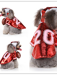 cheap -Dog Cat Dress Tuxedo Vest Euramerican Christmas Dog Clothes Red Costume Polyester Canvas Mixed Material S M L XL
