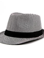 cheap -Unisex Basic Polyester Bucket Hat-Striped Spring Summer Black Blue Red