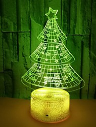 cheap -Christmas Tree Atmosphere Led Table Lamp 3D Light Colorful Color Night Light