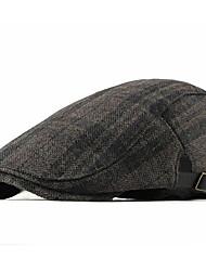 cheap -Men's Basic Polyester Beret Hat-Striped Fall Orange Navy Blue Khaki