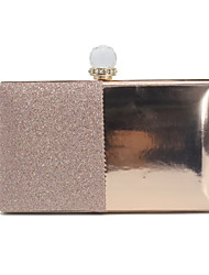 cheap -Women's Sequin PU Evening Bag Solid Color Black / Almond / Gold