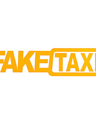 cheap -FAKE TAXI 2pcs Car Stickers Reflective Stickers Funny Window Vinyl Decals Car Styling Self Adhesive Emblem Car Stickers