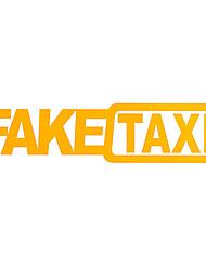 Недорогие -поддельные такси 2 шт. наклейки на автомобиль светоотражающие наклейки смешные окна виниловые наклейки стайлинга автомобилей самоклеящаяся эмблема наклейки на автомобиль