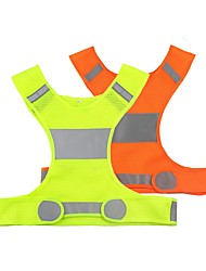 cheap -Reflective Vest Night Vision Easy Carrying Durable for Running Cycling / Bike Silver