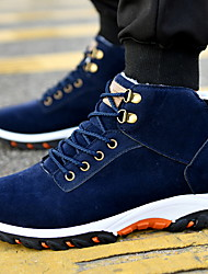 cheap -Men's Suede Shoes Suede Fall & Winter Boots Booties / Ankle Boots Black / Yellow / Blue