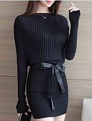 cheap -Women's Black Gray Dress Street chic Bodycon Solid Colored S M Slim