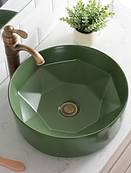 cheap -Bathroom Sink Contemporary - Glass Round Vessel Sink