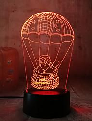 Недорогие -Рождественский подарок 3d маленькая настольная лампа Санта-Клаус воздушный шар сенсорный 3d ночник