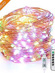 Недорогие -1 шт. USB 10 м 100 светодиодов свет шнура светодиодные красочные водонепроницаемые светодиодные провода медной проволоки праздник освещения фея на рождественскую вечеринку свадебные украшения