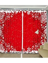cheap -New Christmas Curtain Red Background White Pattern Digital Printing 3D Curtain Festival High Precision Black Silk Cloth High Quality Blackout Curtain