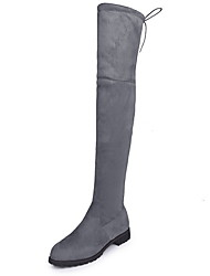cheap -Women's Boots Low Heel Round Toe Suede Over The Knee Boots Fall & Winter Black / Red / Gray