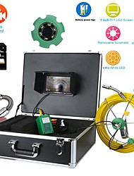 "cheap -Pipe Inspection endoscope Video Camera, 40M IP68 Waterproof Drain Pipe Sewer Inspection Camera System 7""LCD DVR 1000TVL Camera with 6W LED Lights 8GB SD Card"