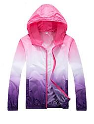 cheap -Men's Daily Fall & Winter Regular Jacket, Color Block Hooded Long Sleeve Polyester Blushing Pink / Orange / Blue