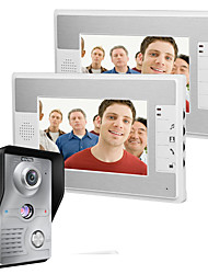cheap -MOUNTAINONE SY812MKW12 Wired Built in out Speaker 7 inch Hands-free One to Two video doorphone