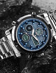 cheap -ASJ Men's Sport Watch Digital Watch Quartz Watches Japanese Digital Stainless Steel Silver 50 m Water Resistant / Waterproof Alarm Calendar / date / day Analog - Digital Luxury Classic Fashion Army -