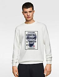 cheap -Men's Basic / Christmas Sweatshirt - Print Black US34 / UK34 / EU42