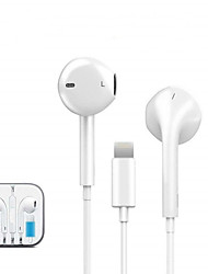cheap -2 Pcs Wired Lighting Earphone with microphone In-Ear Stereo Sport Headphone for Apple iPhone 8 7 Plus X XS MAX XR