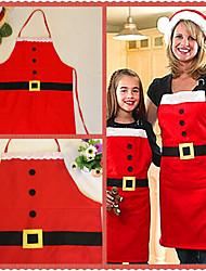 cheap -Christmas Decoration Apron Kitchen Aprons Christmas Dinner Party Apron Santa Christmas Kitchen Apron