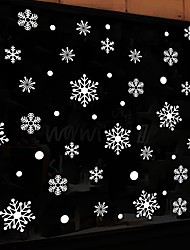 cheap -XH6231 new white snowflake Christmas New Year decoration wall stickers shop window glass layout stickers