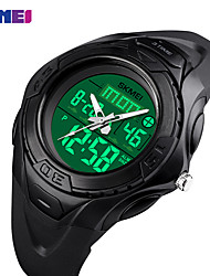 cheap -SKMEI Smartwatch Digital Modern Style Sporty Silicone 30 m Water Resistant / Waterproof LCD Casual Watch Analog Casual Fashion - Black Green Blue