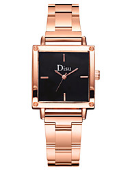 cheap -Women's Quartz Watches New Arrival Elegant Rose Gold Stainless Steel Chinese Quartz Black White Blushing Pink Chronograph Cute New Design 1 pc Analog One Year Battery Life