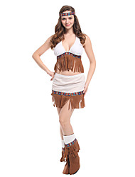 cheap -Indian Girl Adults Women's Cosplay Ethnic & Interracial Headpiece Outfits For Party Halloween Polyester Halloween Carnival Masquerade Top Headband
