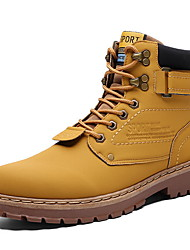 cheap -Men's Combat Boots PU Winter Boots Booties / Ankle Boots Black / Brown / Yellow