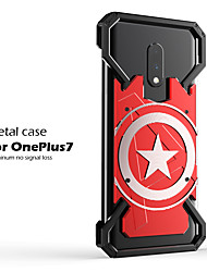 cheap -Case For OnePlus one plus 7T / one plus 7T Pro Shockproof Back Cover Cartoon Aluminium